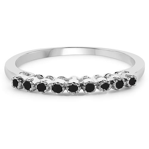 0.32 Carat Genuine Multi Diamond .925 Sterling Silver Ring