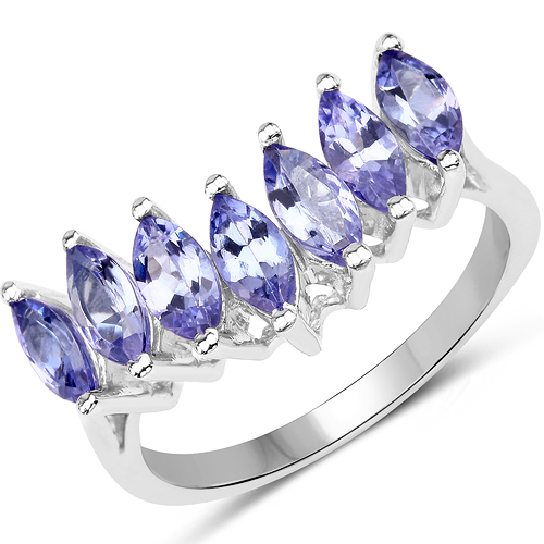 Tanzanite-1.68 Carat Genuine Tanzanite .925 Sterling Silver Ring