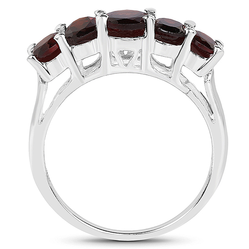 2.77 Carat Genuine Garnet .925 Sterling Silver Ring