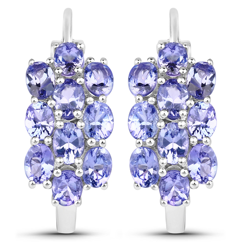 8.84 Carat Genuine Tanzanite .925 Sterling Silver 3 Piece Jewelry Set (Ring, Earrings, and Pendant w/ Chain)
