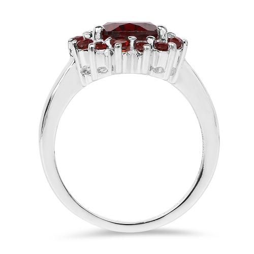 4.10 Carat Genuine Garnet .925 Sterling Silver Ring