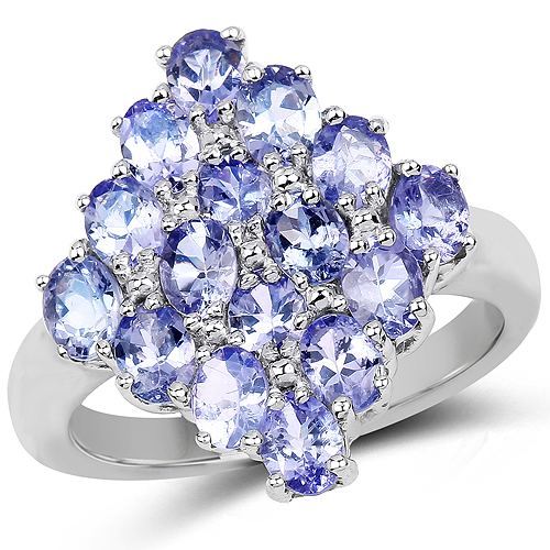 0.56 Carat QTESNT Details about  /925 Sterling Silver Genuine Tanzanite Ring Multiple Sizes