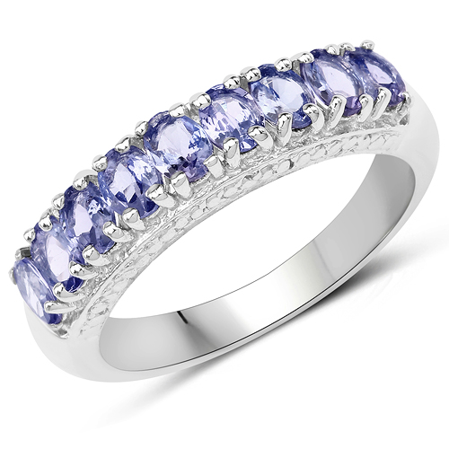 Tanzanite-1.53 Carat Genuine Tanzanite .925 Sterling Silver Ring