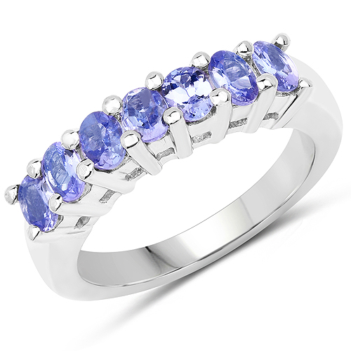 Tanzanite-1.19 Carat Genuine Tanzanite .925 Sterling Silver Ring