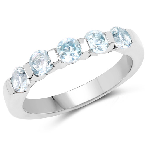 Rings-0.50 Carat Genuine Blue Topaz .925 Sterling Silver Ring