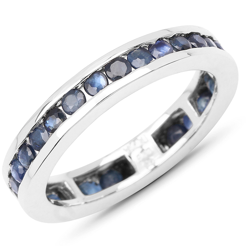 Sapphire-2.00 Carat Genuine Blue Sapphire .925 Sterling Silver Ring
