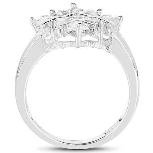 1.08 Carat Genuine White Sapphire .925 Sterling Silver Ring