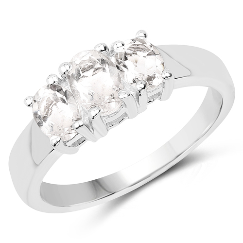 Rings-1.13 Carat Genuine Crystal Quartz .925 Sterling Silver Ring