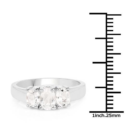 1.13 Carat Genuine Crystal Quartz .925 Sterling Silver Ring
