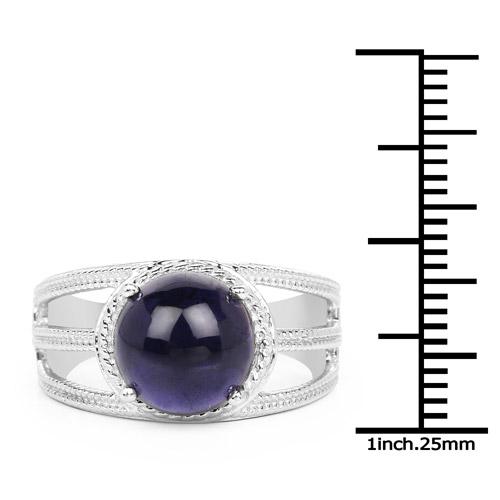 3.65 Carat Genuine Iolite .925 Sterling Silver Ring