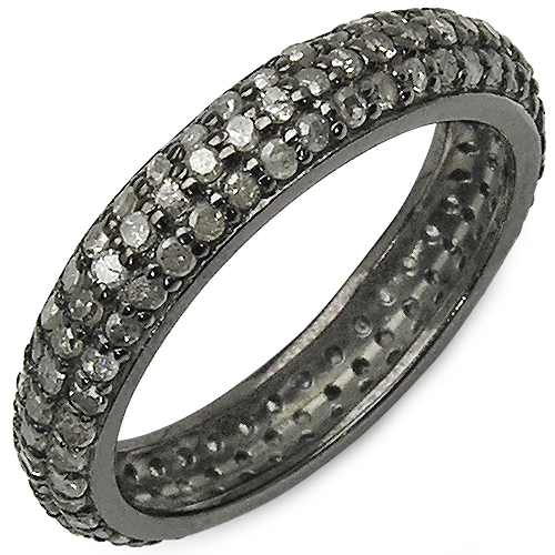 Diamond-1.40 Carat Genuine TLB Diamond .925 Sterling Silver Ring