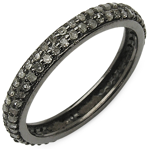 Diamond-0.67 Carat Genuine TLB Diamond .925 Sterling Silver Ring