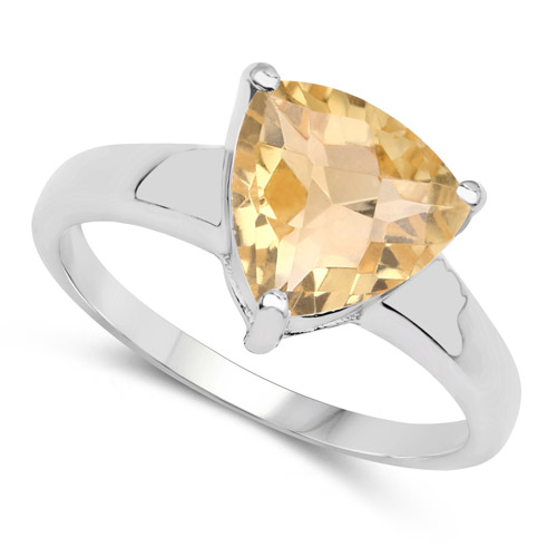 2.31 Carat Genuine Citrine .925 Sterling Silver Ring