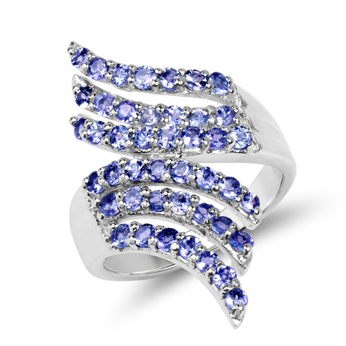 Tanzanite-1.54 Carat Genuine Tanzanite .925 Sterling Silver Ring