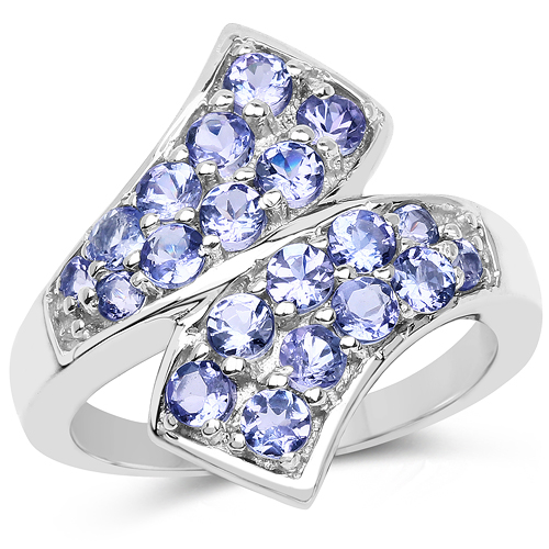 Tanzanite-1.20 Carat Genuine Tanzanite .925 Sterling Silver Ring