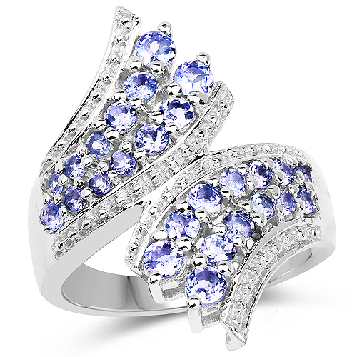 Tanzanite-1.45 Carat Genuine Tanzanite .925 Sterling Silver Ring