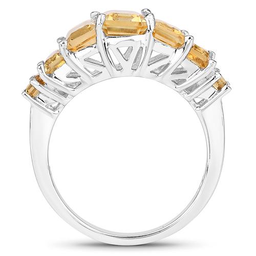 3.10 Carat Genuine Citrine .925 Sterling Silver Ring