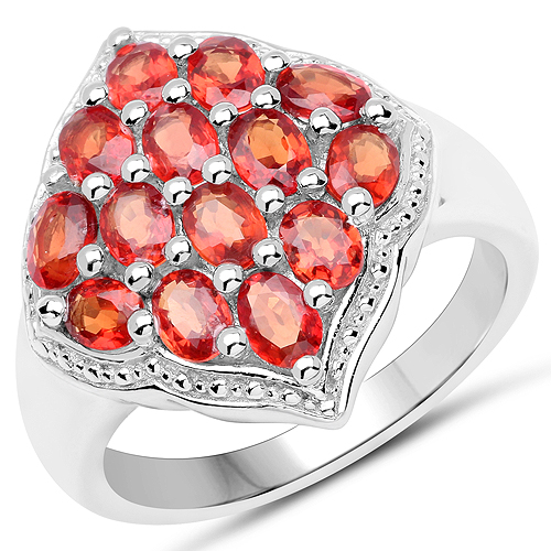 Sapphire-2.80 Carat Genuine Red Sapphire .925 Sterling Silver Ring