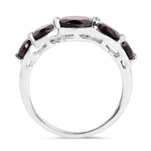 5.27 Carat Genuine Garnet .925 Sterling Silver Ring