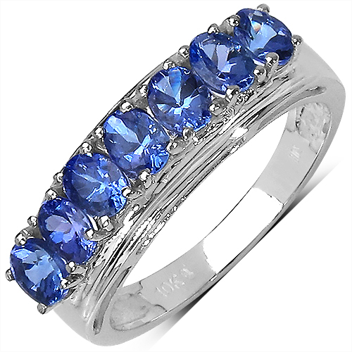 Tanzanite-1.10 Carat Genuine Tanzanite 10K White Gold Ring
