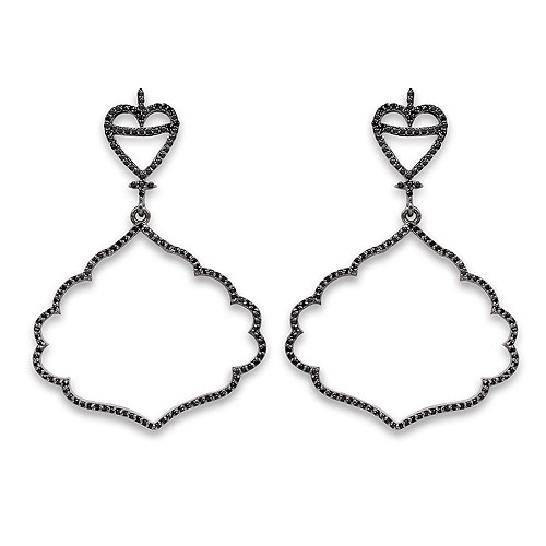 1.16 Carat Genuine Black Spinel .925 Sterling Silver Earrings