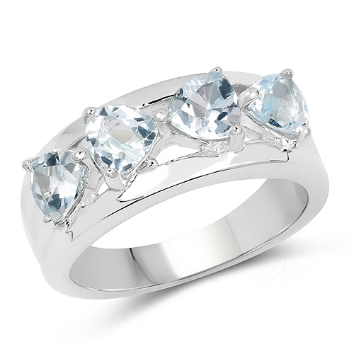 Rings-2.00 Carat Genuine Blue Topaz .925 Sterling Silver Ring